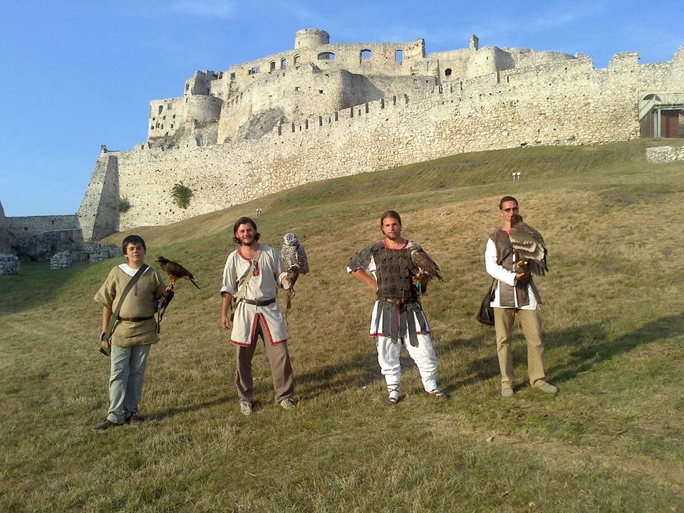 sokoliari na spisskom hrade