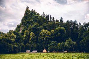 stredoveká dedina pod Oravským hradom